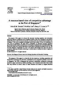 A resource-based view of competitive advantage ... - Semantic Scholar