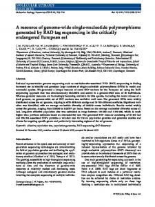 A resource of genomewide singlenucleotide polymorphisms ...