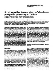 A retrospective 7-years study of aluminum phosphide poisoning in
