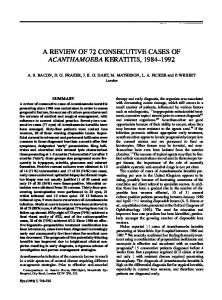a review of 72 consecutive cases of acanthamoeba keratitis ... - Nature