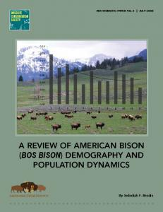 a review of american bison (bos bison) demography ...
