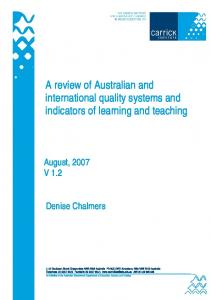 A review of Australian and international quality systems ... - CiteSeerX