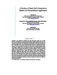 A Review of Basic Soil Constitutive Models for Geotechnical Application