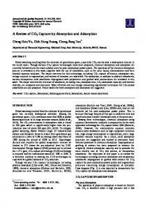 A Review of CO2 Capture by Absorption and ... - Semantic Scholar