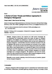 A Review of Cyber Threats and Defence Approaches in Emergency ...