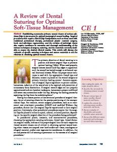 A Review of Dental Suturing for Optimal Soft-Tissue Management