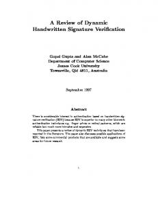 A Review of Dynamic Handwritten Signature Verification
