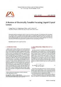 A Review of Electrically Tunable Focusing Liquid Crystal Lenses