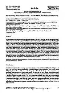 a review of fossil Tortricidae (Lepidoptera) - UTU Research Portal