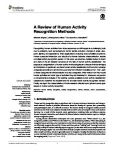 A Review of Human Activity Recognition Methods - Computational ...