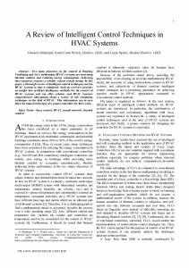 A Review of Intelligent Control Techniques in HVAC ... - IEEE Xplore