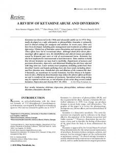 a review of ketamine abuse and diversion - Wiley Online Library