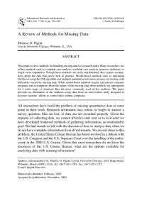 A Review of Methods for Missing Data