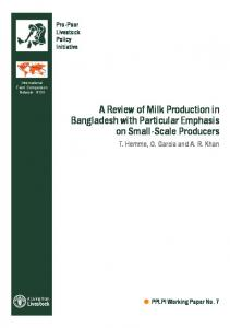 A Review of Milk Production in Bangladesh with ... - AgEcon Search