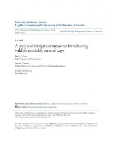 A review of mitigation measures for reducing wildlife mortality on ...