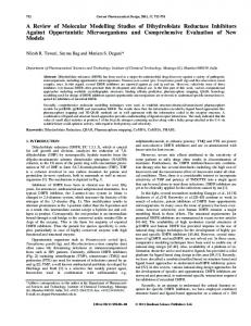 A Review of Molecular Modelling Studies of Dihydrofolate Reductase ...