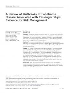 A Review of Outbreaks of Foodborne Disease Associated with ... - NCBI