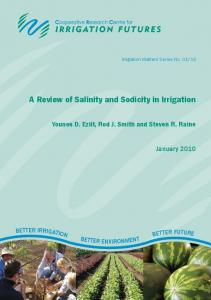 A Review of Salinity and Sodicity in Irrigation - Irrigation Australia