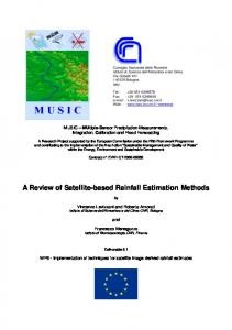 a review of satellite-based rainfall estimation methods - CNR-ISAC