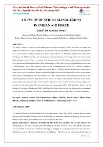 a review of stress management in indian air force - IJSTM