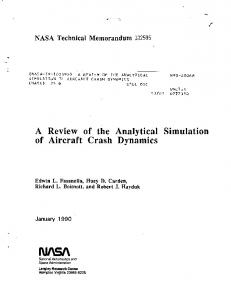 A Review of the Analytical Simulation of Aircraft Crash Dynamics