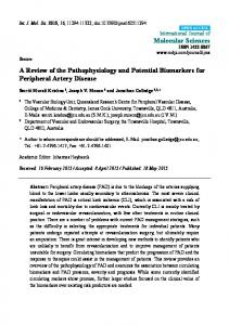 A Review of the Pathophysiology and Potential Biomarkers for ...