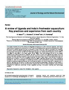 A review of Uganda and India's freshwater ... - Academic Journals