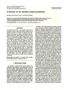 A review on Air Quality Indexing system