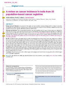 A review on cancer incidence in India from 25 ...