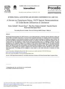 A Review on Compliance Rating: FATF Special ... - ScienceDirect