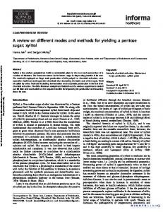 A review on different modes and methods for yielding ...