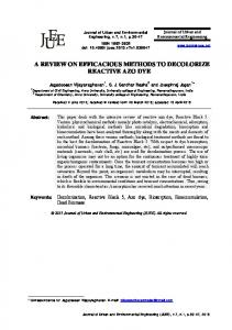 a review on efficacious methods to decolorize