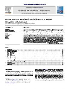 A review on energy scenario and sustainable energy ... - UM Repository