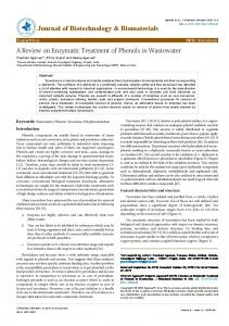 A Review on Enzymatic Treatment of Phenols in ... - OMICS International