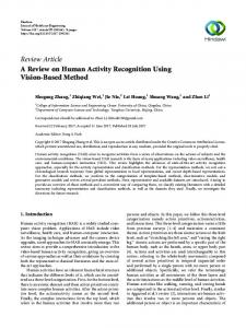 A Review on Human Activity Recognition Using Vision-Based Method