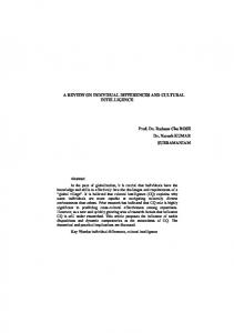 A Review On Individual Differences And Cultural Intelligence