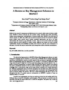 A Review on Key Management Schemes in MANET - Semantic Scholar