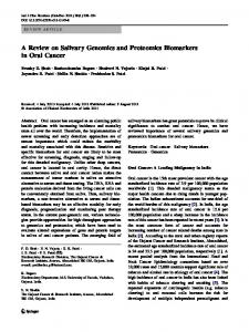 A Review on Salivary Genomics and Proteomics ... - Springer Link
