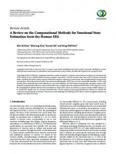 A Review on the Computational Methods for Emotional State