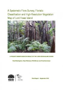 A revised vegetation map and classification of Lord ...