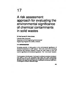 A risk assessment approach for evaluating the ... - CiteSeerX