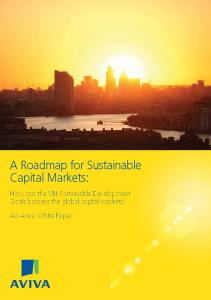 A Roadmap for Sustainable Capital Markets: How can the UN