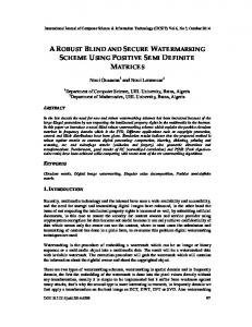 a robust blind and secure watermarking scheme using positive semi