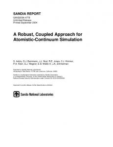 A Robust, Coupled Approach for Atomistic-Continuum Simulation