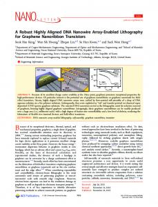 A Robust Highly Aligned DNA Nanowire Array ... - ACS Publications