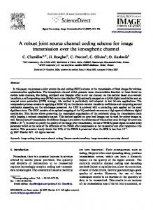 A robust joint source channel coding scheme for ... - Semantic Scholar