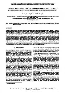 a robust matching method for unmmaned aerial ... - ISPRS Annals