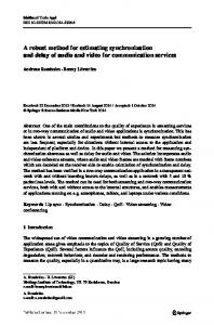 A robust method for estimating synchronization and ...