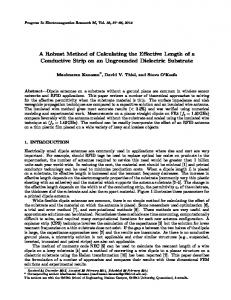 A Robust Method of Calculating the Effective Length of a Conductive ...