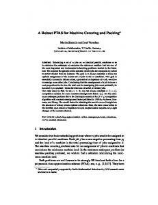 A Robust PTAS for Machine Covering and Packing - department - TU ...